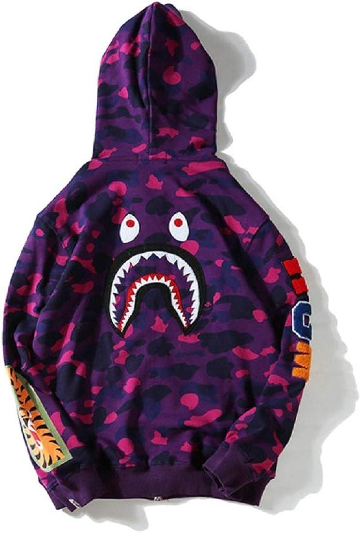 Big Mouth Shark Ape Bape Camo Casual T Shirt Tees Unisex with Round Neck Short Sleeve