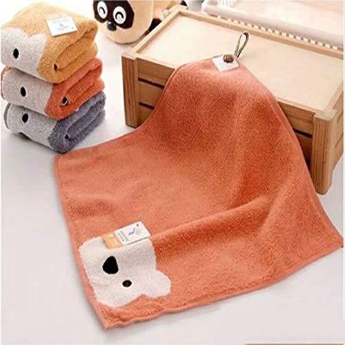 Huien handdoeken jongens meisjes cartoon beer patroon hangbare handdoek katoenen gezicht handdoek kinderen badkamer producten, rood