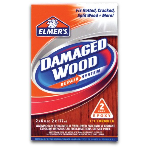 Elmer's E761Q E761L Wood Repair System, 6 oz, White