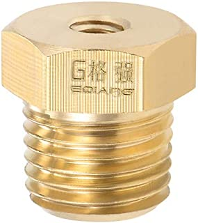 uxcell Brass Pipe Hose Fitting 1/4 Male to 3/16 Female Thread Tube Adapter Nozzle for Liquid Oil Gas