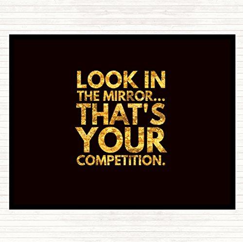 Kijk In De Spiegel Zijn Uw Competitie Quote Muis Mat Pad