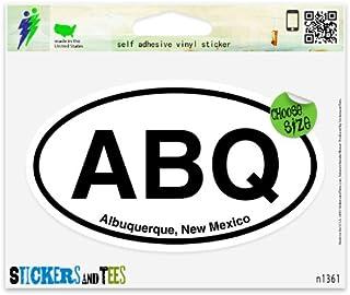 """ABQ Albuquerque New Mexico Oval Car Sticker Indoor Outdoor 5"""" x 3"""""""