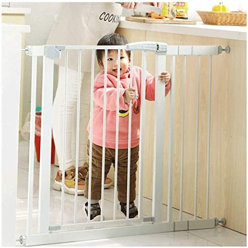 DFKDGL Pressure Fit Safety Metal Gate Stands 80cm tall The width can be selected from 76 to 222cm Pet Gate baby gate with Extensions Available (Color : High80cm, Size : 145-152cm)