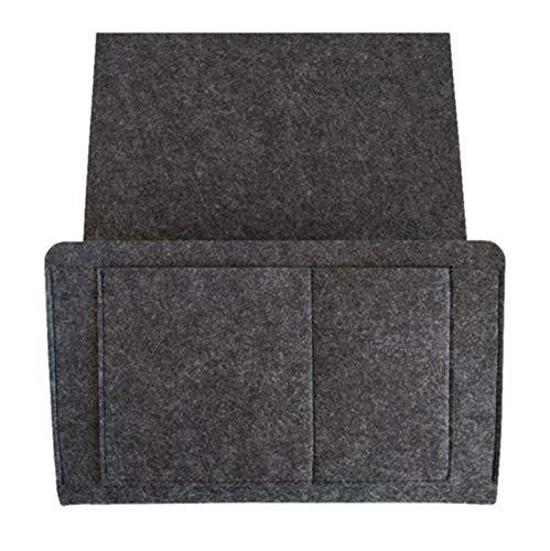 Almacenamiento colgante Fieltro cama sofá solar bolsa control remoto colgando de lado alojamiento de soste de almacenamiento organizador de bolsillos bolsa bolsa de mesa de noche Bolsillo de almacenam