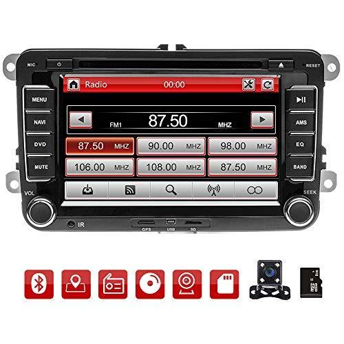 Podofo Radio Coche 2 DIN GPS Navigation para VW 7 '' HD
