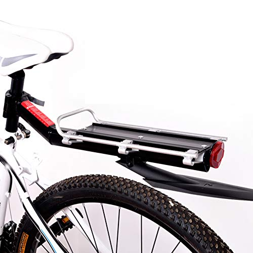 FYLY-Mountainbike Gepäckträge,15kg Kapazität Fahrrad Gepäckträger, Schnelle Veröffentlichung Aluminiumlegierung Fahrradgepäckträger, Mit Reflektor und Kotflügel