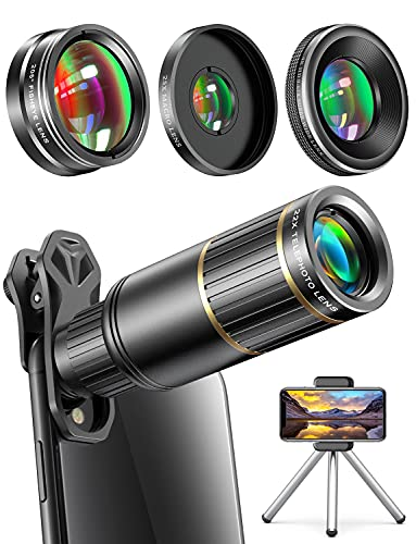 Phone Camera Lens Phone Lens for iPhone Samsung Pixel Huawei One Plus, 22X Telephoto...