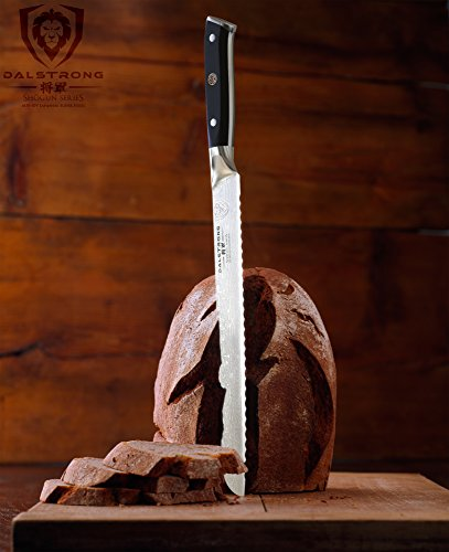 DALSTRONG Bread Knife – 10.25″ (26 cm) – Shogun Series – Damascus – Japanese AUS-10V Super Steel – Sheath Included