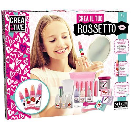 Experimentierkasten Lippenstift herstellen für Kinder Lippenstift Lippenbalsam mit Duft Duftstift Kinder Schminke Kosmetik selber machen Lip Gloss Glitter Bastelset Spa Beauty Spielzeug Kreativ Set