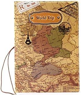 RAG&SAK World Trip Pattern Passport Cover, Multi Color