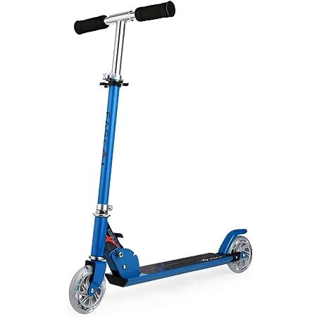 Adolescent Adulte Trottinette Pliable R/églable en Aluminium City Scooter Roue Arri/ère et Frein /à Main