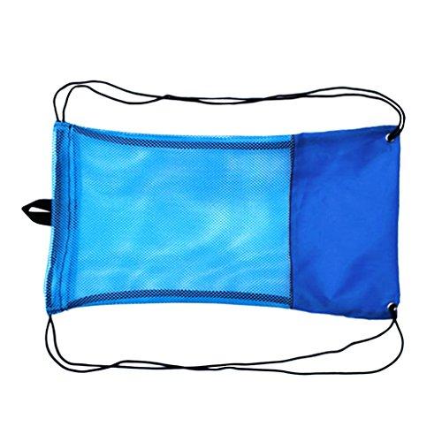 Sharplace Netzbeutel Erwachsene Schnorcheltasche Flossentasche - Mesh Bag, Kordelzug Tasche - Blau, M