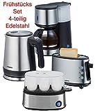 Melissa Design Edelstahl - GOOD Morning - Frühstücksset Kaffeemaschine + Wasserkocher + Eierkocher...