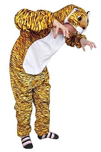 Ikumaal Tiger-Kostüm, AN28 Gr. M-L, Fasnachts-Kostüme Tier-Kostüme, Tiger-Faschingskostüm, für Fasching Karneval Fasnacht, Karnevals-Kostüme, Faschings-Kostüme, Geburtstags-Geschenk Erwachsene