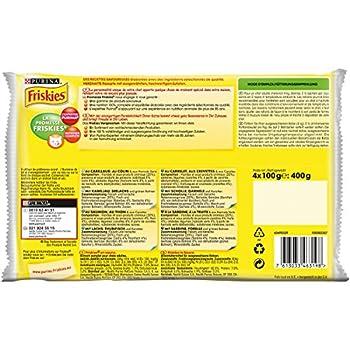Friskies aux Poissons & Légumes en Sauce - 4 x 100 g - Sachets Fraîcheur pour Chat Adulte - Lot de 10