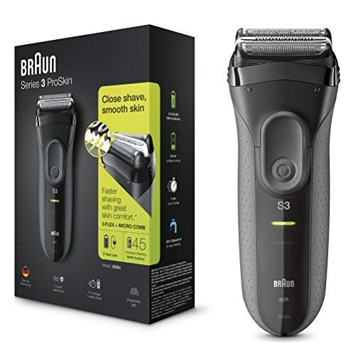 Braun Series 3 ProSkin 3000s wiederaufladbarer Elektrorasierer Wet & Dry für Männer