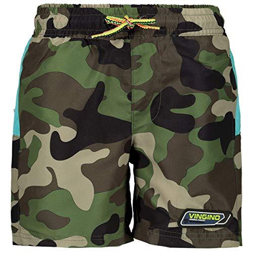 Vingino Jungen Boys Badeshort Badehose Short XAVIANO Camouflage Green (128)