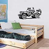 Pegatinas de pared de vehículos militares de dibujos animados adecuados para niñas, niños, niños