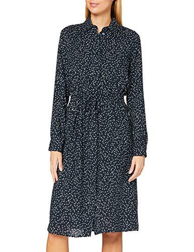 Seidensticker Damen Blusenkleid Midi - Blusenkleid mit Hemdblusenkragen - Regular Fit – Langarm – 100% Viskose