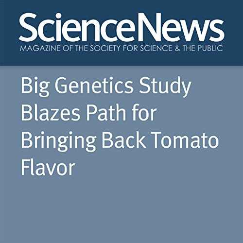 Big Genetics Study Blazes Path for Bringing Back Tomato Flavor audiobook cover art