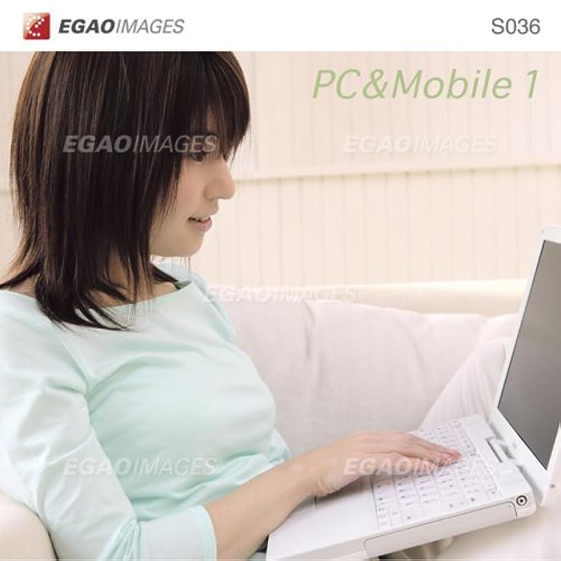 味方グローバルマットレスEGAOIMAGES S036 若い女性「パソコンとモバイル1」
