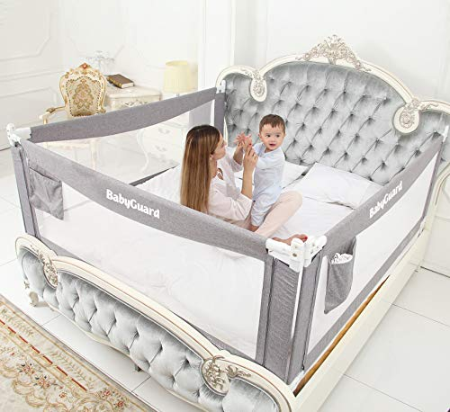 BabyGuard Bed Rails for Toddlers - Extra Long and Tall...