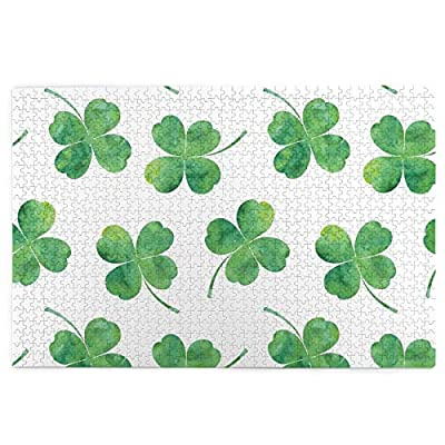 """Educational Jigsaw Puzzles 1000 Pieces for Adults Kids (Four Leaf Clover) 29.5"""" X 19.7"""" Puzzle Holiday Gift"""