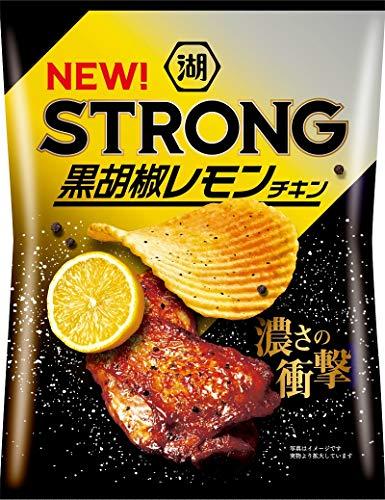 湖池屋 KOIKEYA STRONGポテトチップス黒胡椒レモンチキン 63g ×12袋