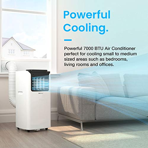Pro Breeze 4-in-1 Portable Air Conditioner 7000 BTU with Remote Control, 24 Hour Timer & Dual Window Venting Kit Included. Powerful Air Conditioning Unit with Class A Energy Efficiency Rating