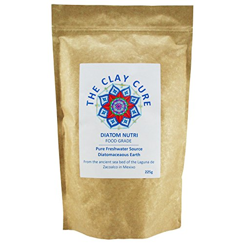 Premium Diatomaceous Earth - Superior Food Grade UK by THE CLAY CURE 225g - Full - Pure Fresh Water Sourced DE Powder Food Grade! Multiple Uses for Health, Pets, Pest Control Etc