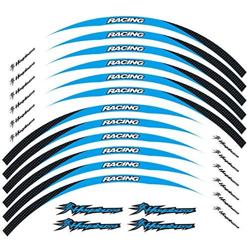 Motos Calcomanías Accesorios de Carreras de Motocicletas Rueda Neumático Rim Decoración Adhesiva Adhesiva Calcomanía de calcomanías para Hayabusa GSXR1300 GSXR1300 Pegatinas (Color : 250135)