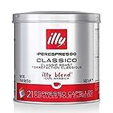 illy Coffee, Classico Espresso Coffee Capsules, Medium Roast, 100 Percent Arabica Coffee Beans, 21 Capsules