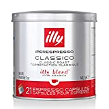 illy Coffee, iperEspresso Capsule, Classico Medium Roast Espresso Pods, Compatible with illy iperEspresso Machines, 21 ct (Packaging may Vary)