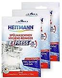 HEITMANN Express Spülmaschinen Reiniger 30g: Reiniger für Geschirr, 3fach aktiv gegen Fett, Kalk,...