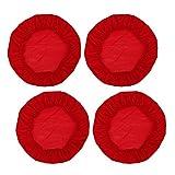 4 PCS Fodera per Sedia da Pranzo, Fodere Coprisedia, Copertura da Sedia Elastica, Coprisedia Rotonda, Fodera Coprisgabello - Rosso