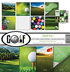 cheap Golf Collection Scrapbook Kit Don't forget the paper craft, multicolor palette