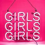 Girls Girls Girls Neon Signs Pink Neon Sign Neon Light Sign Light Up Signs Wall Decor Custom Neon Words for Wall Bedroom Girls Halloween Christmas Decor Neon