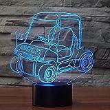 Personnages de dessins animés Chariot de Golf Led 3D Night Light Chariot 7 Couleur USB Interrupteur Tactile Lumière Chambre Décoration 3D Lampe De Table Enfants Cadeau Créatif Creative Animation