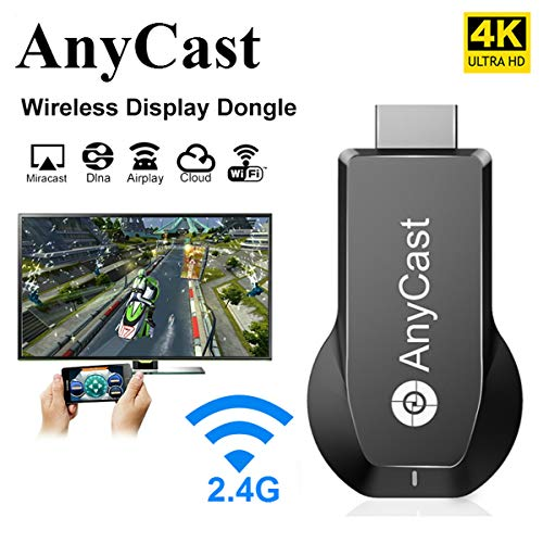 Anycast HDMI Wireless Display Adapter WiFi 1080P 4K M2 Plus Mobile Screen Mirroring Receiver Dongle for iOS&Android to TV Projector Support Miracast Airplay DLNA