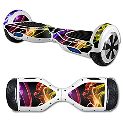 MightySkins Skin Compatible with Self Balancing Mini Scooter Hover Board - Bright Smoke | Protective, Durable, and Unique Vinyl Decal wrap Cover | Easy to Apply, Remove | Made in The USA
