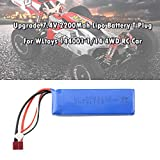 Novania 7.4V 2200mAh T Plug Lithium Battery Compatible with WLtoys 144001 1/14 4WD RC Off Road Car, RC Truck Helicopter Boat Remote Control Hobby Remote & App Controlled Vehicle LiPo Batteries