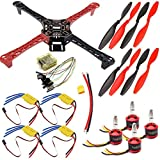 USAQ F450 Quadcopter Drone Kit CC3D 30A ESC 2212 Motor Frame Kit