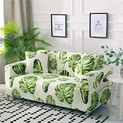 Funda para sofá, 5 plazas con reposabrazos, Funda para sillón en Forma de L para salón, Funda Protectora Elegante y Suave, Todo Incluido,Color_7,2-Seater_145-185cm