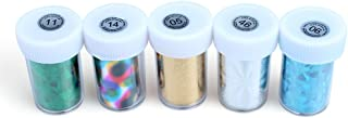 Pack Of 5 Newest Nail Art Transfer Craft Foil Fashion Diy Nail Sticker Tip Decoration