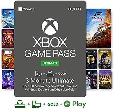 Mit deiner aktiven Abonnement-Mitgliedschaft bei Xbox Game Pass Ultimate kannst du Spiele auf Xbox One, Xbox Series X und Windows 10 PC spielen. Beinhaltet Abonnement für Konsolenspiele mit Xbox Game Pass, Abonnement für PC-Spiele mit Xbox Game Pass,...