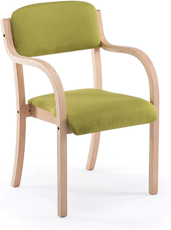 GLJ Modern Minimalist Home Wood Chair Nordic Solid Wood Back Desk Chair Bar Stool (color   Grass, Size   48cmX52cmX64cm)