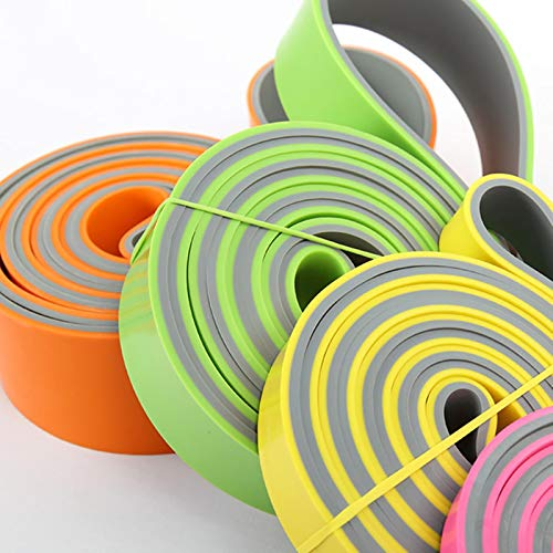Bandas de Resistencia de Doble Color Bucle de Banda asistido para Pull-ups Ejercicio de Estiramiento Unisex Goma Fitness Gym Ejercicio-29mm