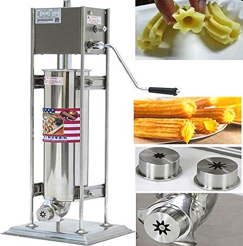 BAOSHSIAHN Churros Maker Maschine für Churros 7L kommerziellen Spanisch Churrera Gebäckpistole für Fettgebackenes ölkringeln, die sich Maschine Equipment CE