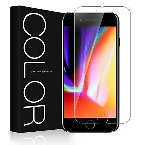 G-Color iPhone 8 / iPhone 7 用 強化ガラス液晶保護フィルム iPhone 8 ガラスフィルム 旭硝子製 硬度9H iPhone 8 / iPhone 7 対応