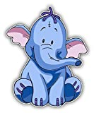 cartoon Winnie The Pooh Heffalumps Car Bumper Sticker Decal - Longer Side 14''